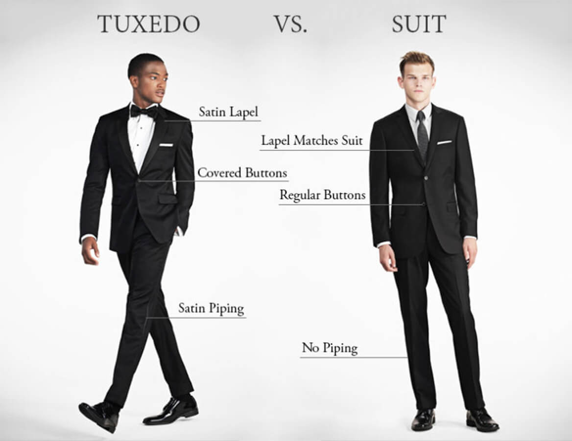 suit and tuxedo