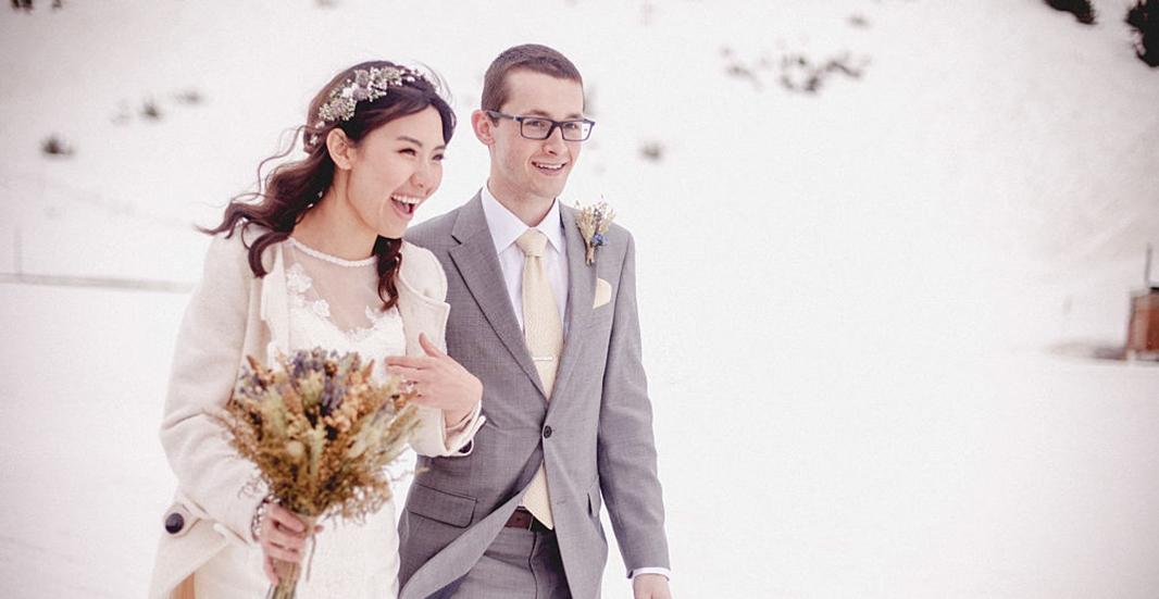 may vest cưới mùa đông