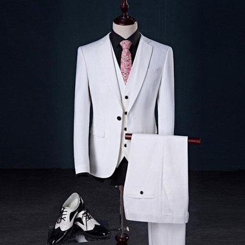 vest trắng cho chú rể