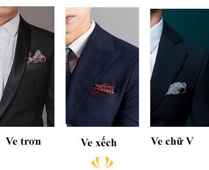 các loại ve áo vest