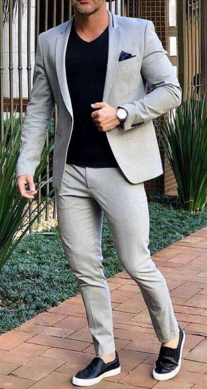Chọn vai áo khi may comple