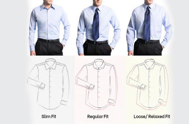 Form của các kiểu may áo sơ mi nam đẹp phù hợp với dáng người