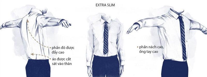 Form extra slim tôn body quý ông