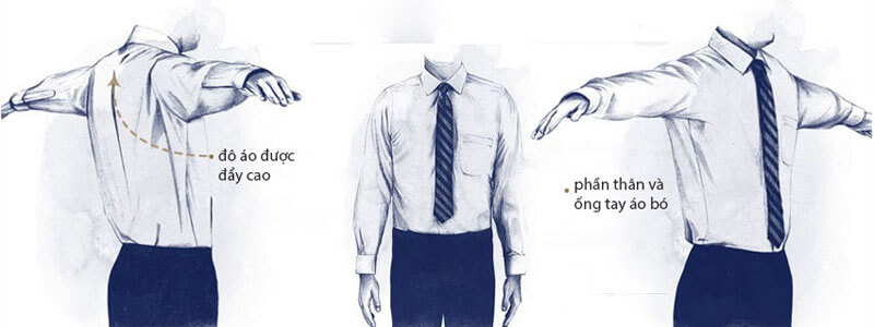 Form may áo sơ mi nam slim fit
