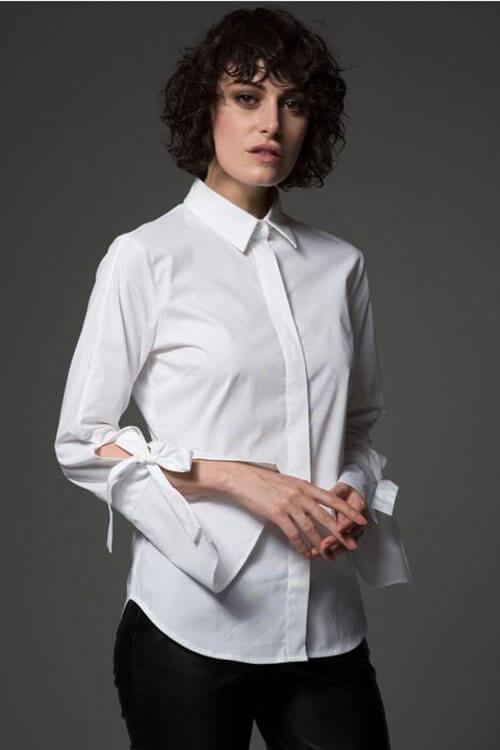 kiểu may áo sơ mi nữ đẹp