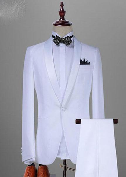 Vest trắng nam sang trọng tại Thomas Nguyen