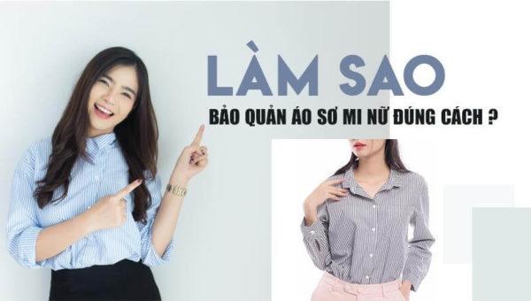 May áo sơ mi nữ đẹp   Cách chọn vải và bảo quản áo sơ mi đúng cách