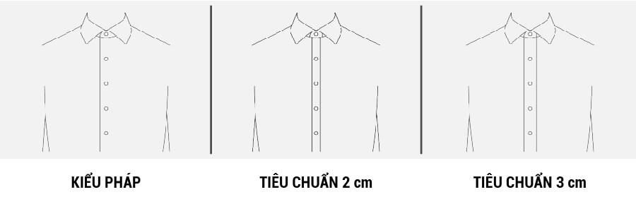 Các kiểu trụ áo sơ mi