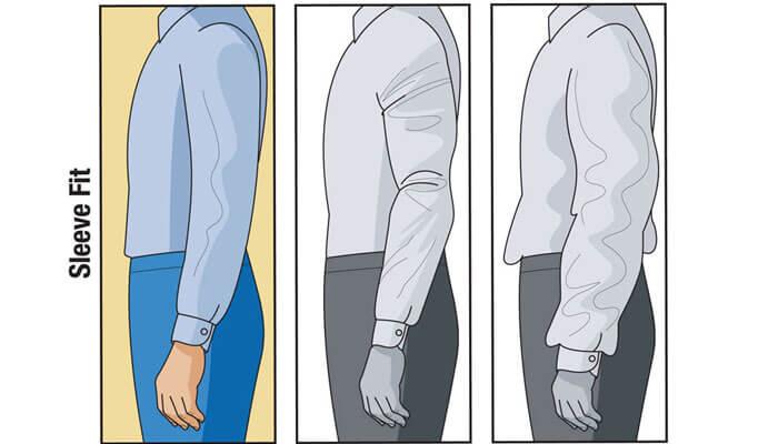 Độ dài tay áo đúng chuẩn