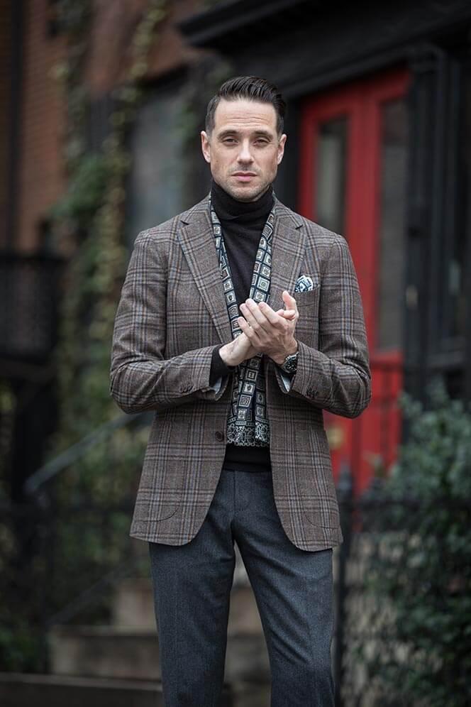 Áo khoác blazer phối cùng áo len
