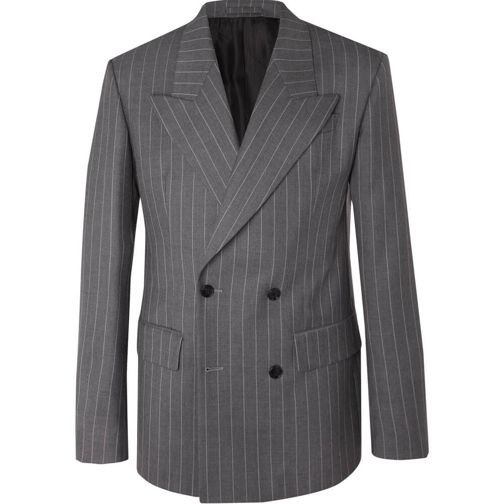 May đo suit nam màu sọc xám Thomas Nguyen
