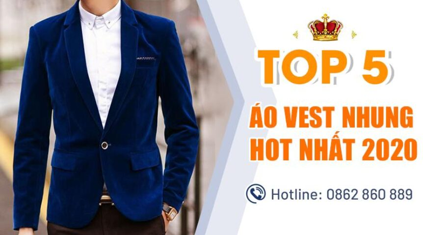 Top 5 áo vest nhung nam hot nhất 2020