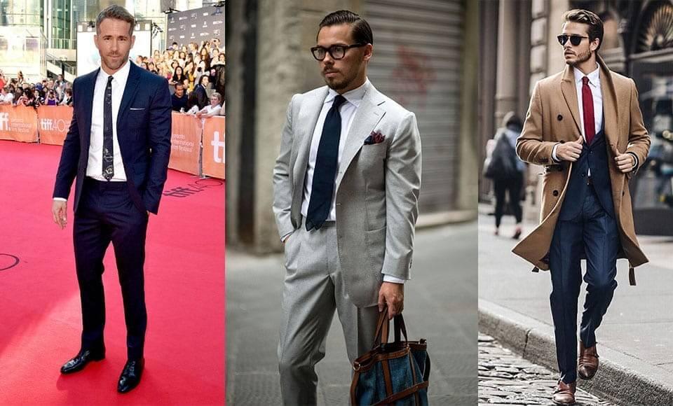 Áo sơ mi màu trắng dành cho nam phối với suit/vest