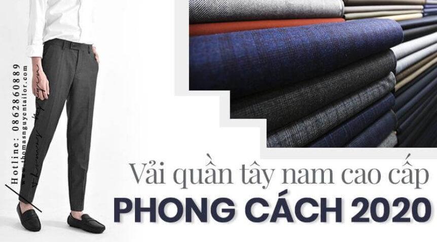 Vải quần tây nam cao cấp với phong cách thời trang 2021