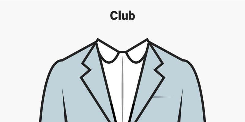 Cổ áo Club độc đáo