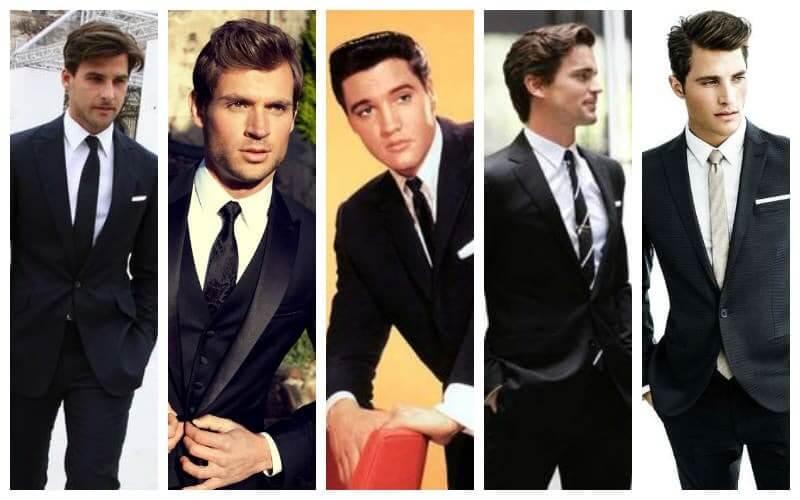 Kết hợp áo sơ mi trắng và suit đen