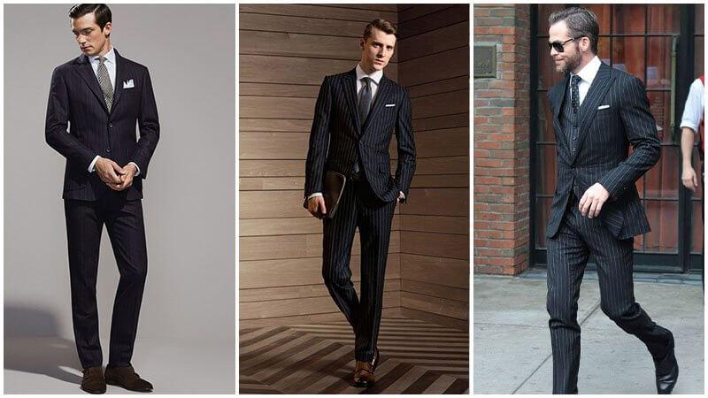 Vest/ Suit pinstripe màu đen