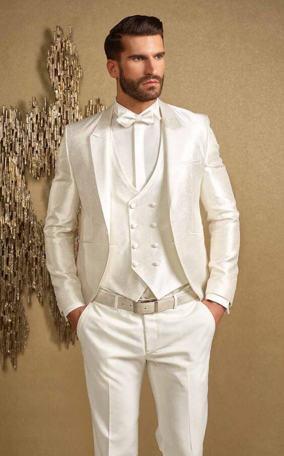 Vest 3 mảnh màu trắng