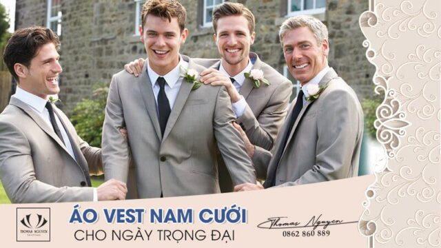Cách chọn áo vest nam cưới, sơ mi và cà vạt cho ngày trọng đại