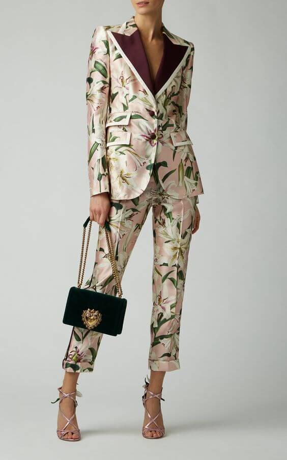 họa tiết bộ vest nữ đẹp