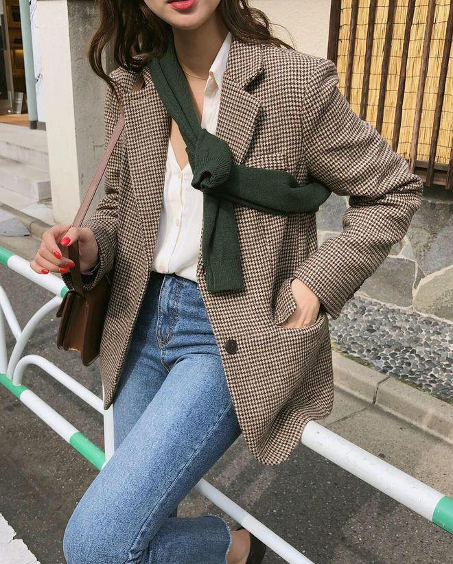 Áo vest kẻ sọc nữ Hàn Quốc