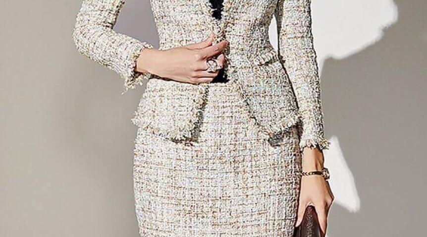 """Áo dạ tweed dáng dài – Gu thời trang """"chanh sả"""" cho mùa đông năm nay."""