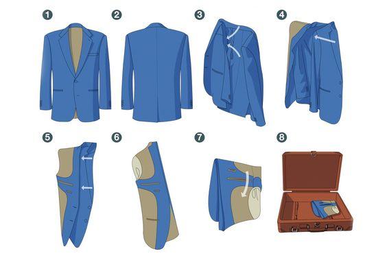 Gấp áo vest kiểu ngược