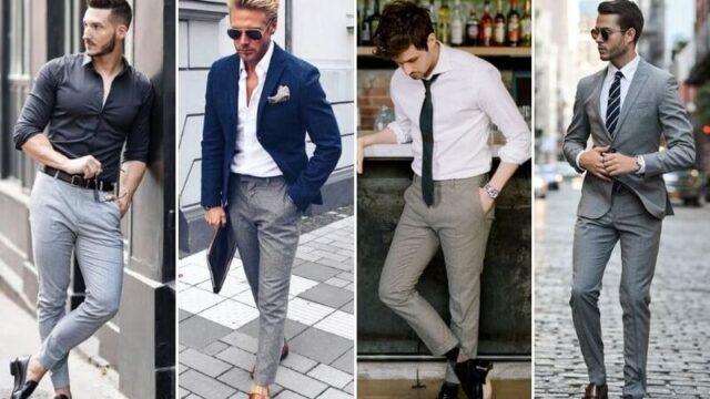 Điểm danh mẫu quần tây xám may đo đẹp & cách phối outfit chuẩn thời trang