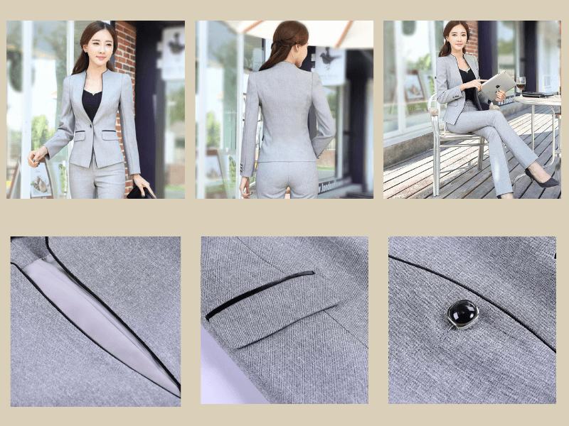 Vest có ve áo và đường viền cổ chữ U và V kết hợp